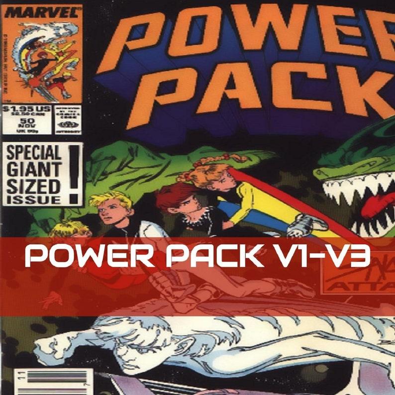 Power Pack Comics on a new DVD ROM V1 -V3