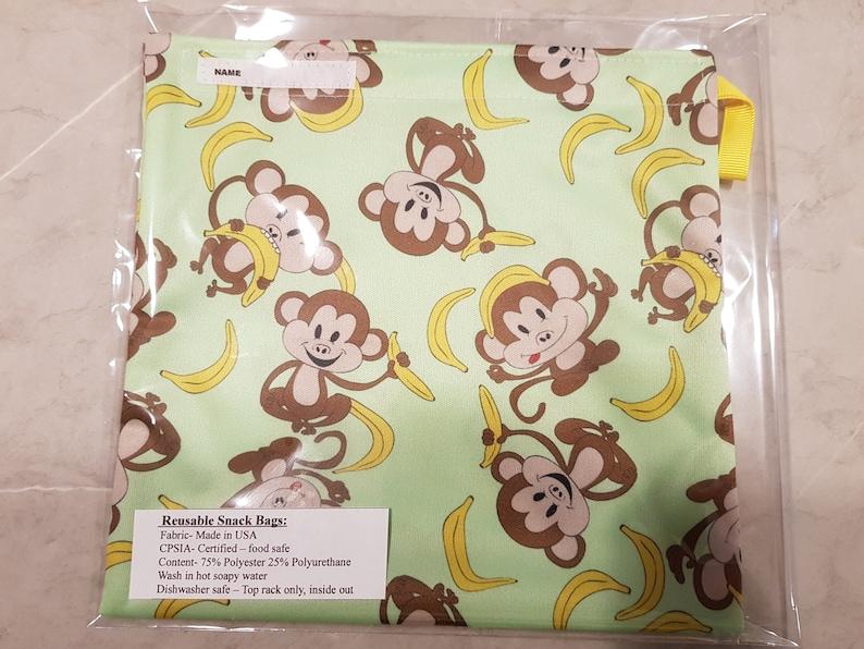Reusable Snack bags, food safe