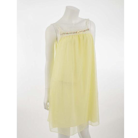 1960\u2019S Pastel Yellow Babydoll Slip Dress