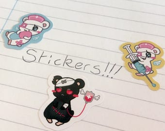 Menhera Hamsters Sticker Sheet