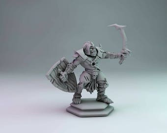Orc / Half orc fighter Wargaming Tabletop RPG miniature Dungeons and dragons Pathfinder 28mm