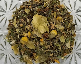 The Caterpillar - Alice in Wonderland, Relaxing Herbal Blend, Lemon Balm, Hops, Linden Leaf, Red Clover Herb, St Johns Wort, Chamomile