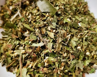 Ghost Dog - Organic Herbal Tea Blend, White Peony, Halloween, Yerba Mate, Ice Tea, Summer, Fall, Day Tea, Elder Flower, Nettle, Skullcap