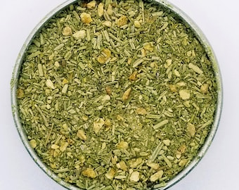Thyme for Lemon Rosemary - Organic Herbal Culinary Salt Blend, Lemon Thyme, Rosemary, Lemon Peel, Himalayan Salt