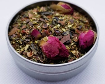 Love Notes - Love Tea, Jasmine Tea, Chocolate, Roses, Damiana, Va-Va-Voom, Herbal Tea, Organic Tea