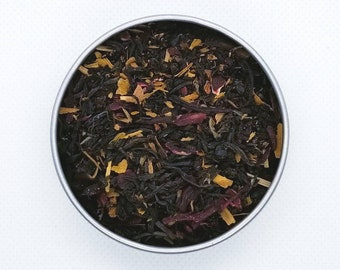 Itachi - Naruto Themed Tea Blend, Uchiha, Black Tea, Hibiscus, Ginkgo Leaf Fall Gold, Manga-Inspired, Antioxidants