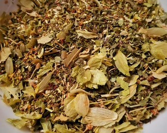 Sandman - Organic Herbal Blend, Caffeine-Free, Sleep, Dream Tea, Tisane, Hops, Lemon Balm, Passionflower, Linden Leaf, Bring Me a Dream