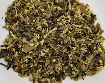 White Rabbit - Alice in Wonderland, Energy Tea, Green Tea, Eleuthero Root, Ginkgo Leaf, Elder Flower, Lemon Thyme, Lemon Verbena
