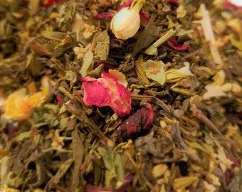 Bride of Frankenstein - Green Tea, Floral, Women's Tea, Horror Movie theme, Jasmine, Hibiscus, Yarrow
