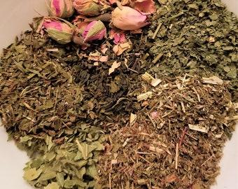 Sailor Jupiter - Sailor Scout, Sailor Moon, Green Tea, Lady's Mantle, Blackberry Leaf, Rosebuds, Strawberry Leaf, Meadowsweet