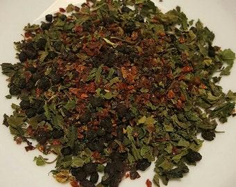 VitaBoost - Vitamin Rich Tea, Organic Herbal Tea, Tea for Colds, Tea for Immune System, Nettle, Rosehips, Elderberry, Yarrow, Cinnamon