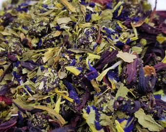 Purple Reign - Herbal Blend, Color-Changing, Butterfly Pea Flower, Hibiscus, Black Currants, Dandelion Leaf