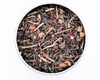 Jimin - BTS Themed Tea Blend, Herbal Tea, Organic Tea, Kukicha, Pu'erh, Rosehips, Hibiscus, Red Tea
