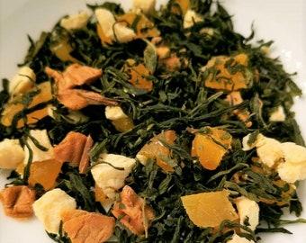 Peach Mango Supreme - Green Tea, Peach, Apricot, Pure Mango Extract, Pure Peach Extract, Summer Tea, Spring Tea