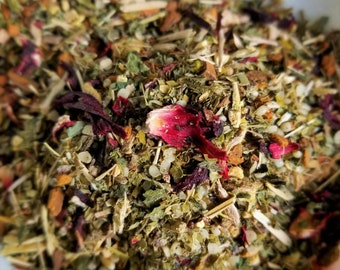 Wolfman - Werewolf, Horror Movie Theme Tea, Tea Blend for Healthy Hair, Full Moon Tea, Hemp Seed, Holy Basil, Eleuthero Root, Cinnamon