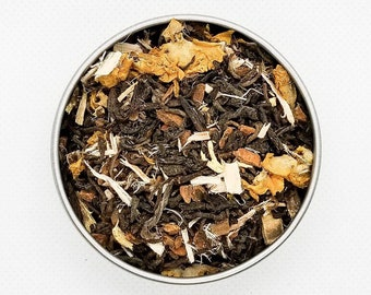 Jin - BTS Themed Tea Blend, Organic, Throat Tea, Herbal Tea, Pu'erh, Mullein, Slippery Elm, Cinnamon, Licorice