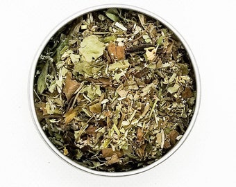 RM - BTS Themed Tea Blend, Refreshing Tea, White Peony, Green Rooibos, Spearmint, Marshmallow Leaf, Skullcap