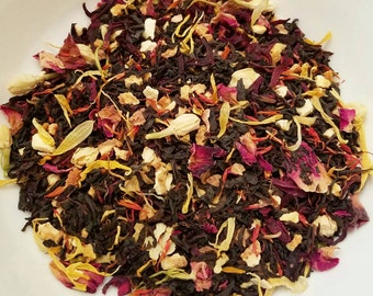Mulan - Floral, Citrus, Girl Power, Disney Inspired, Rose Tea, Safflower, Earl Grey, Bergamot, Orange Peel, Calendula, Rose Petals, Jasmine
