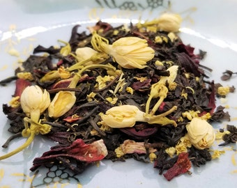 Scream - Herbal Tea, Horror Movie Theme Tea, Hibiscus, Jasmine, Black Tea, Elder Flower