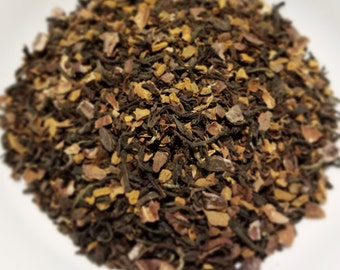 Maltese Falcon - Deep, Rich, Robust, Herbal Tea Blend, Chocolate, Chicory, Smokey, Black Tea, Humphrey Bogart, Loose Leaf, Certified Organic