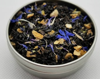 Sasuke - Naruto Themed Tea Blend, Assam Black Tea, Blue Tea, Butterfly Pea Flower, Cornflower, Lemon Peel, Strong, Uchiha
