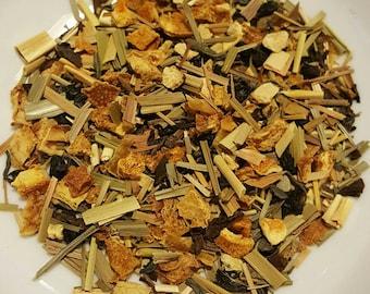 Among the Citrus Fields - Organic Herbal Tea, Citrus Tea, Green Tea, Lemongrass, Lemon Peel, Orange Peel, Elderberry, Loose Leaf Tea, Vegan