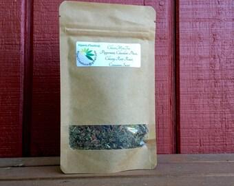 ChocoMinTea - Organic Loose Leaf Tea, Herbal Tea, Chocolate Tea Peppermint, Chicory Root, Cinnamon, Chocolate Mint Tea, Gift for Tea Lover
