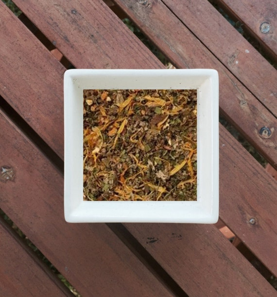 Tummy Soother - Stomach Ache, Belly Ache, Organic Herbal Tea, Calendula,  Ginger, Caraway, Peppermint, Raspberry, Orange Peel, Marshmallow