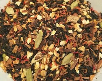 Orange Spice - Organic Herbal Tea blend, Fall Blend, Autumn, Warm, Chai, Spice Blend, Orange, Cinnamon, Safflower, Cardamom