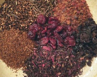 Slaughterhouse - Deliciously Bold Tea, Honeybush, Rooibos, Cranberries, Hibiscus, Red Tea, Kukicha, Currents, Rosehips