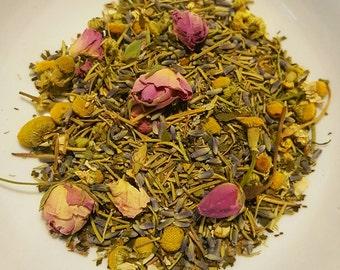 Tame the Tension - Relaxing Herbal Tea, Organic Herbal Tea, Stress Tea, Headache Tea, Peppermint, Chamomile, Rosemary, Lavender, Calming Tea