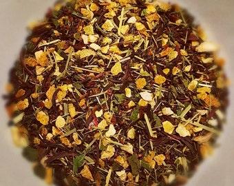 Morgona - Organic Loose Leaf Tea, Assam Tea, Cinnamon, Hibiscus, Rosehips, Lemon, Orange Peel, Lemongrass, Nettle, Strong Tea, Vegan Tea