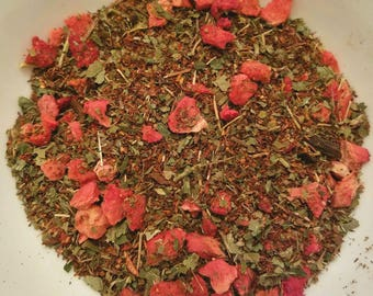 Sweet Berry Dreams - Strawberry, Vanilla Tea, Strawberry Leaf, Herbal Blend, Blackberry Leaf, Berry Dreams, Certified Organic, All-Natural
