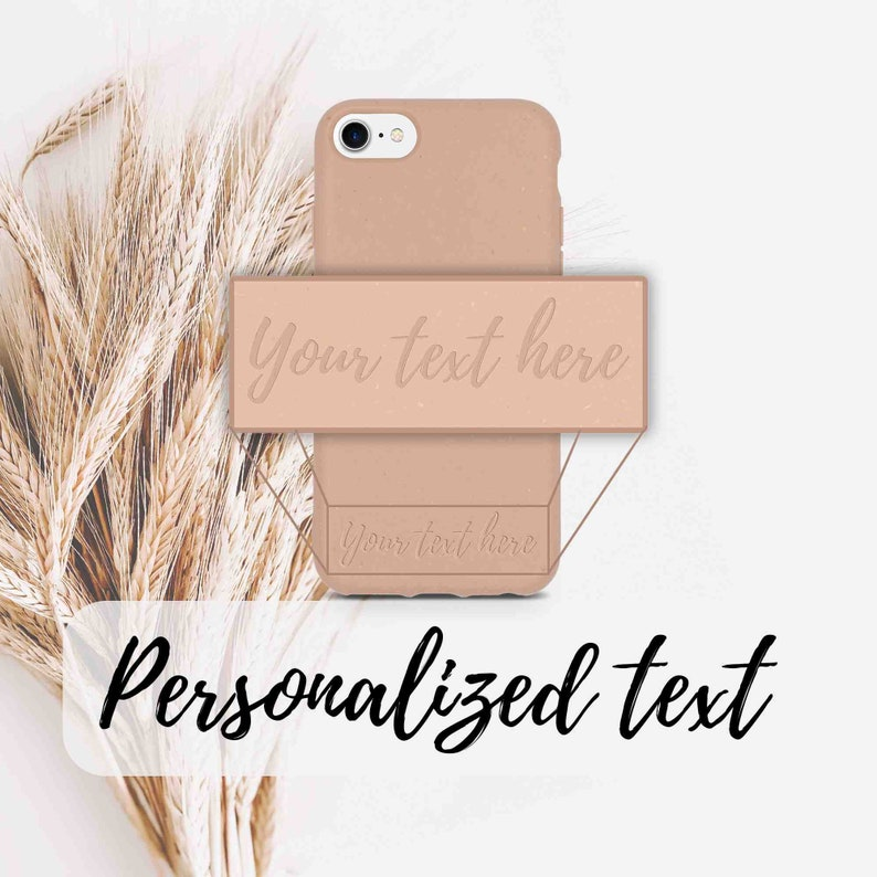 Personalized Eco-friendly gifts  Biodegradable Case Pastel Pink  Gift For Her  iPhone 6 6S 7 8 SE2020 X XS  FREE SHIPPING Worldwide