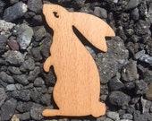 2 Pack - White Rabbit Magic Bunny Beech Wood Veneer Laser Cut Wooden Sticker