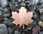 2 Pack - Canadian Flag Maple Leaf Walnut Wood Veneer Laser Cut Sticker