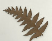 2 Pack - Fern Walnut Laser Cut Wooden Sticker