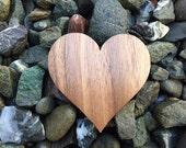 2 Pack - Love Heart Lovers Silhouette Walnut Wood Laser Cut Sticker Gift