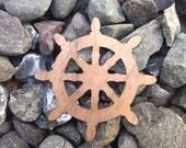 2 Pack - Eightfold Path Buddhism Wheel Walnut Wood Veneer Laser Cut Sticker