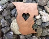 2 Pack - Mendocino County California Lover Emerald Triangle Hill Life Laser Cut Walnut Wooden Sticker
