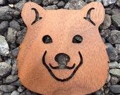 2 Pack - Mama Bear Walnut Wood Veneer Laser Cut Wooden Sticker