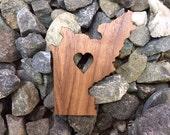 2 Pack - Trinity County California Lover Emerald Triangle Hill Life Laser Cut Walnut Wooden Sticker
