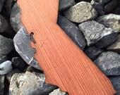 2 Pack - State of California Redwood Wood Veneer Laser Cut Sticker