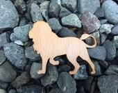 2 Pack - King of the Jungle Lion Beech Wood Laser Cut Sticker