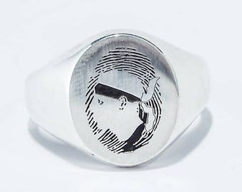 Fingerprint ring Corsica