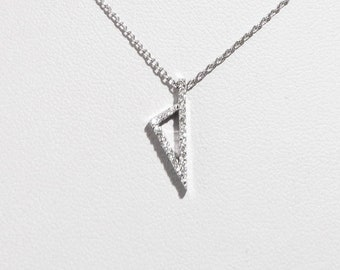 Pendant necklace Corsica 750 white gold and diamonds