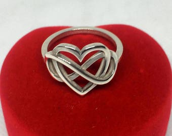 Heart Ring - Infinite silver 925