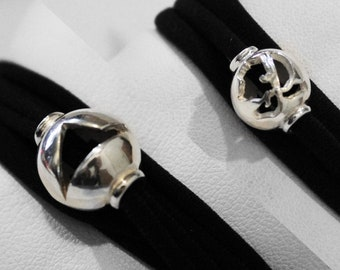 Ball 925 sterling silver double sided CORSICA