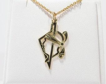 Corsica Gold 750 pendant (thick)