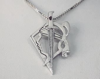 Stylized Corsican dagger pendant
